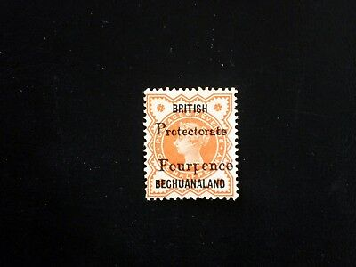 Bechuanaland Protectorate 1889 SG53 1/2d Orange surcharged 4d MNG cv£42. (B2140)