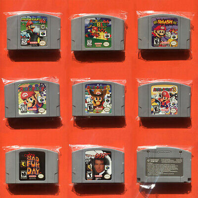 Video Games Card Cartridges For Nintendo 64 N64 Console US Version Mario Kart 64