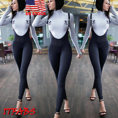 Women's Slim Fit Casual Playsuit Bodycon Clubwear Party Jumpsuit Romper Trousers