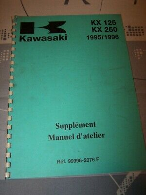 PJ Supplement Manuel d'atelier Workshop Manual Kawasaki Motocyclette KX 125 250