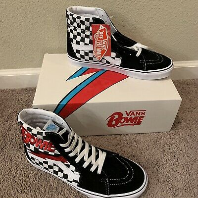 398b50adc6d4d4 Vans X David Bowie Checkerboard Black White Mens Shoes Size 10.5 Sk8 Hi  Limited