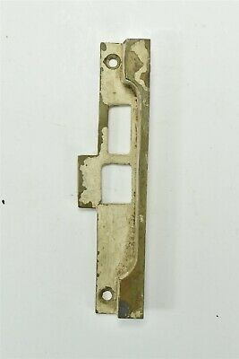 """Antique SOLID BRASS STRIKE PLATE for EXTERIOR MORTISE LOCK 5"""" HARDWARE #06915"""