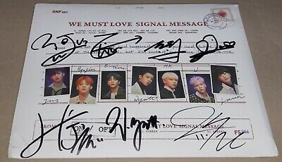 ONF ON/OFF WE MUST LOVE 3rd Mini Album K-POP REAL SIGNED AUTOGRAPHED PROMO CD