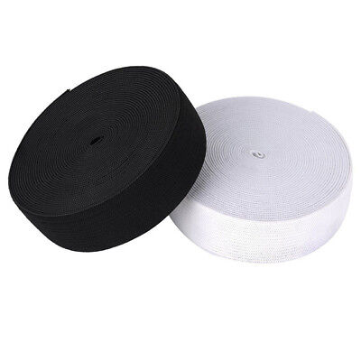 Black or White 19mm/25mm/32mm Wide Flat Strong Woven Elastic Sewing Dressmaking