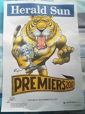 Richmond Tigers 2017 AFL Grand Final Premiership Poster