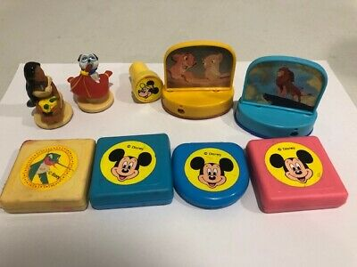 Vintage Disney Stamper Stamp Roller Craft Lot Dorda Toys