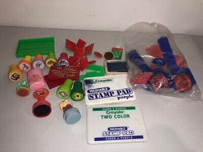 Vintage Stamper Stamp Ink Lot Scrapbooking Crayola Binney & Smith Japan Korea