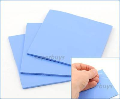 1pc Blue 100x 100x 2.5mm Silicone Thermal Pad Sheet CPU Chip Heat Sink HeatSink
