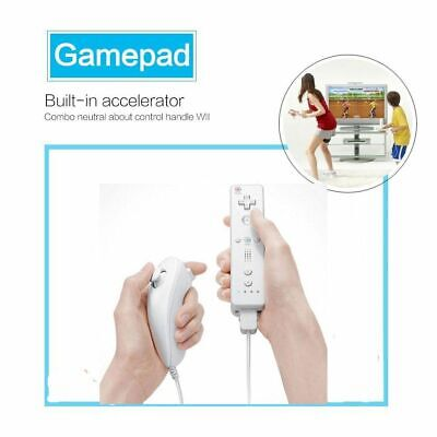 White Genuine Wireless Remote Plus Gamepad Nunchuck Controller For Nintendo Wii
