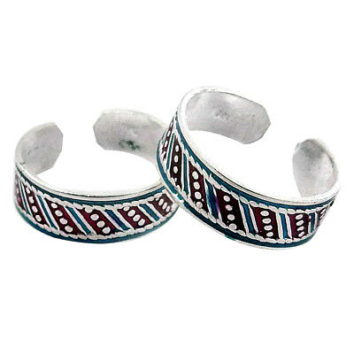 Toe Ring Solid 925 Sterling Silver Adjustable Body Jewelry Traditional Zs223 Goods Of Every Description Are Available Toe Rings