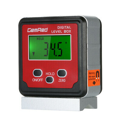 GemRed Level Box Angle Gauge Digital Angle Finder Inclinometer Level Gauge Q8E9