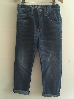 Next Age 5 Years Plus Boys Slub Blue Jeans