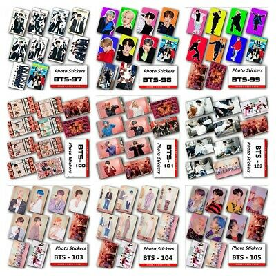 KPOP BTS Map of The Soul: Persona Photo Card Stickers Sticky Crystal Photo Card