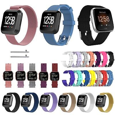 For Fitbit Versa Strap Replacement Band Metal Fabric Silicone Watch Band UK