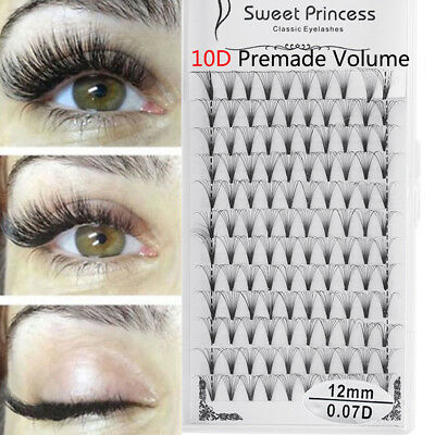 SKONHED 12 Rows 10D Volume Lashes Individual Eyelash Extensions Russian Premade