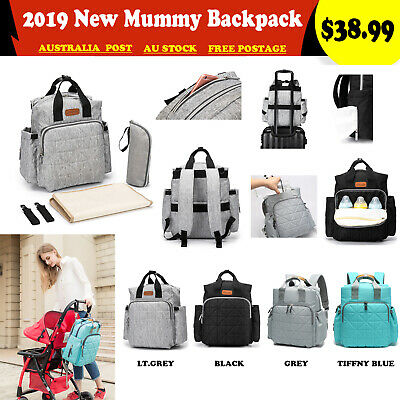 Luxury Multifunctional Mummy Changing Bag Baby Diaper Nappy Backpack Waterproof