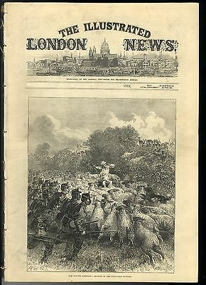 1872 ILLUSTRATED LONDON NEWS Hops Germany JERSEY Ghent FIRE CANTERBURY (3271)