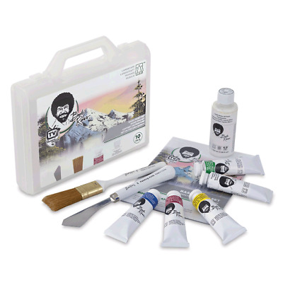 Bob Ross Basic Landscape Oil Painting Kit - complete set with instructions etc