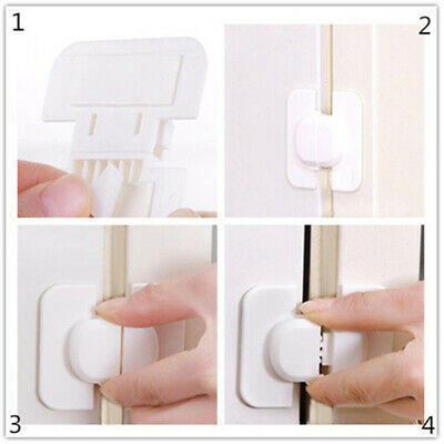 1/2/5pcs Appliance Latch Fridge Freezer Cabinet Microwave Lock Child Safety UK!!