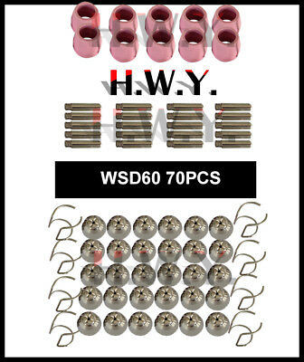 70pcs Wsd60 Ag60 Plasma Cutter Consumables Steel iron copper Metal Cutting Part