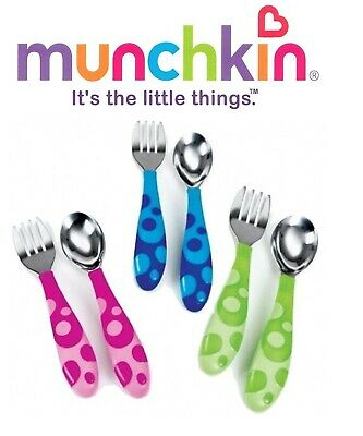 Munchkin Toddler Fork and Spoon Set, Assorted Colours