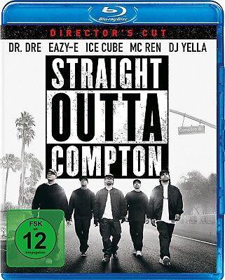 STRAIGHT OUTTA COMPTON (Dr. Dre, Eazy-E, Ice Cube) Blu-ray Disc NEU+OVP