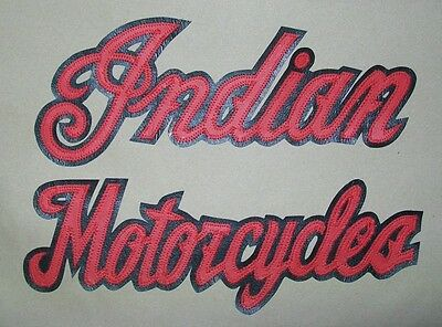 Indian Motorcycles 10 inch 2 piece back patch set. NICE!! NEW