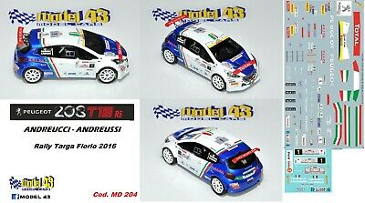 Peugeot  208 R5 Rally LANTERNA  2016 COGNI DECAL  1//43 DECAL