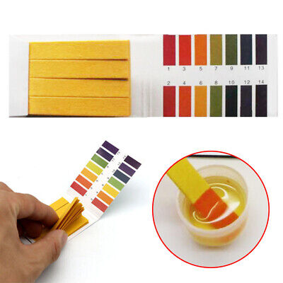 pH 1-14 Universal Full Range Litmus Test 80 Paper Strips Tester Indicator Urine