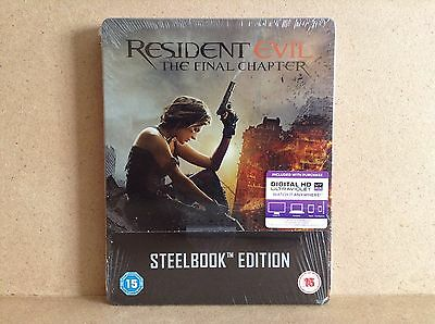 Resident Evil: The Final Chapter - Limited Edition Steelbook (Blu-ray) *NEW*