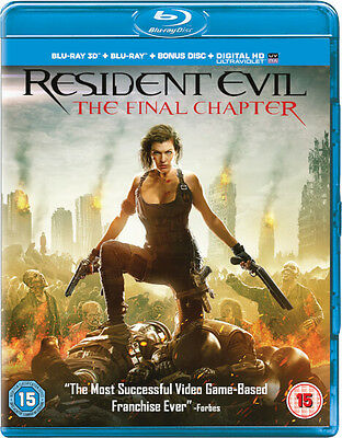 Resident Evil: The Final Chapter 3D (Includes 2D Version) (Blu-ray) *BRAND NEW*