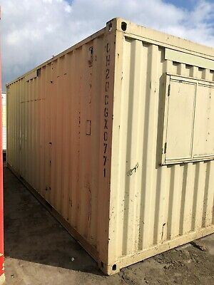 Site Office, Portable Office, Anti Vandal, Secure Office, 20Ft Steel Cabin.