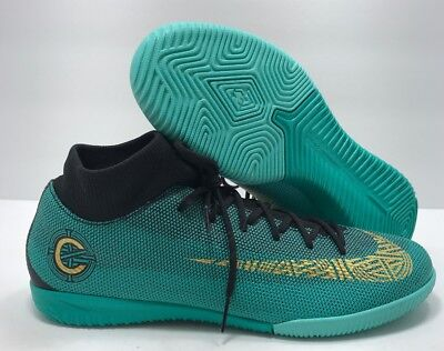 release date 27a8c d9ffb NIKE MERCURIAL SUPERFLYX VI Academy CR7 IC (Clear Jade/Black) Size 7