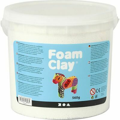 Creativ Company Foam Clay® WHITE- 560g Bucket Self-Hardening Modelling Clay