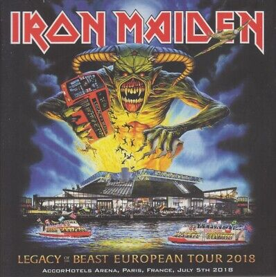 "Iron Maiden "" Live In Paris 05.07.2018, 2 Cd's Digipack"""
