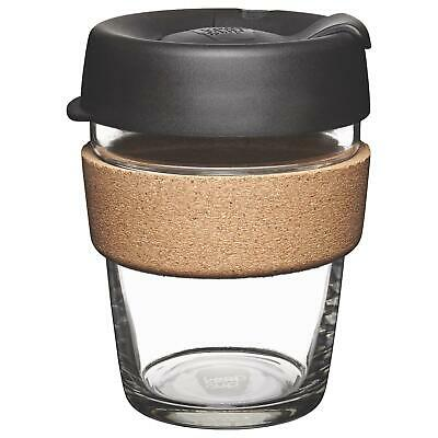KeepCup Brew Reusuable Glass Coffee Cup Mug with Cork Band - 340ml 12oz Espresso