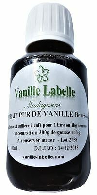 Extrait Naturel de Vanille Bourbon de Madagascar 100 mL, 300g de gousses au kilo