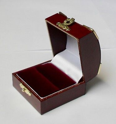 3 x Luxury Antique Style Leatherette Jewellery Pendant Drop Earring Chain Boxes