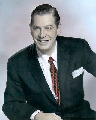 "MILTON BERLE UNCLE MILTIE MR. TELEVISION ACTOR 8x10"" HAND COLOR TINTED PHOTO"