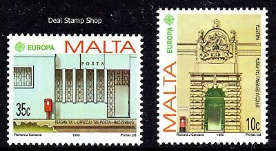 Malta 1990 Europa - Post Office Buildings Complete Set SG 864 - 5 Unmounted Mint