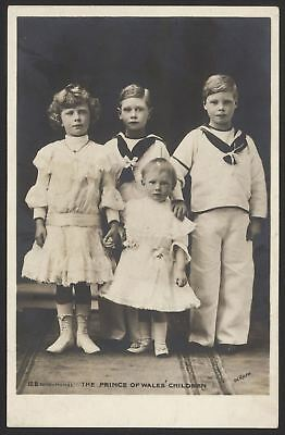 British Royalty. The Prince of Wales' Children. Vintage Rotary Photo Postcard