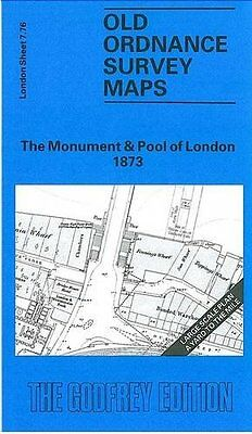 Old Ordnance Survey Map Monument & Pool Of London 1873