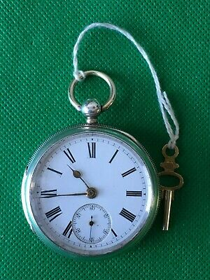 Antique Victorian Chester Silver Cased 1887  Pocket / fob watch By Thomas Webb