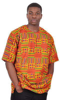 Kente African Print Dashiki Shirt DP3227M