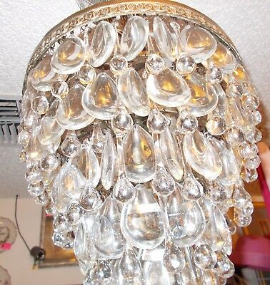 """Exquisite Contemporary Crystal 6 Layer Wedding Cake Chandelier 16"""" Tall"""