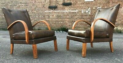 Vintage Mid Century Bentwood Armchairs Matching Pair 225 00