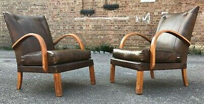 Vintage Mid Century Bentwood Armchairs Matching Pair