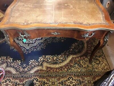 Antique partners desk French Leather Top