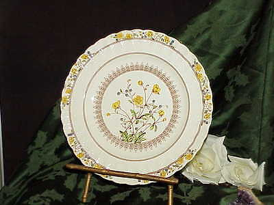 "Spode Buttercup Plate 10"" England Vintg Old Spode Mark Bright Color Antique"