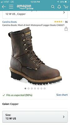 18fce95b9c0 MEN'S CAROLINA WATERPROOF Logger Boots size 12